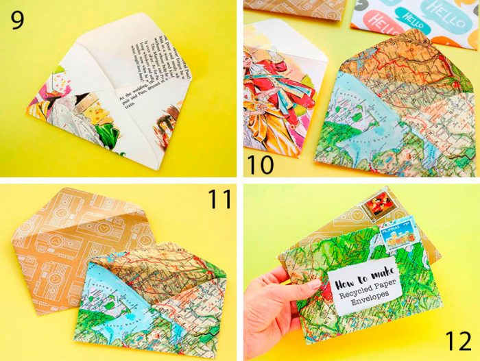 конверт из бумаги пошагово