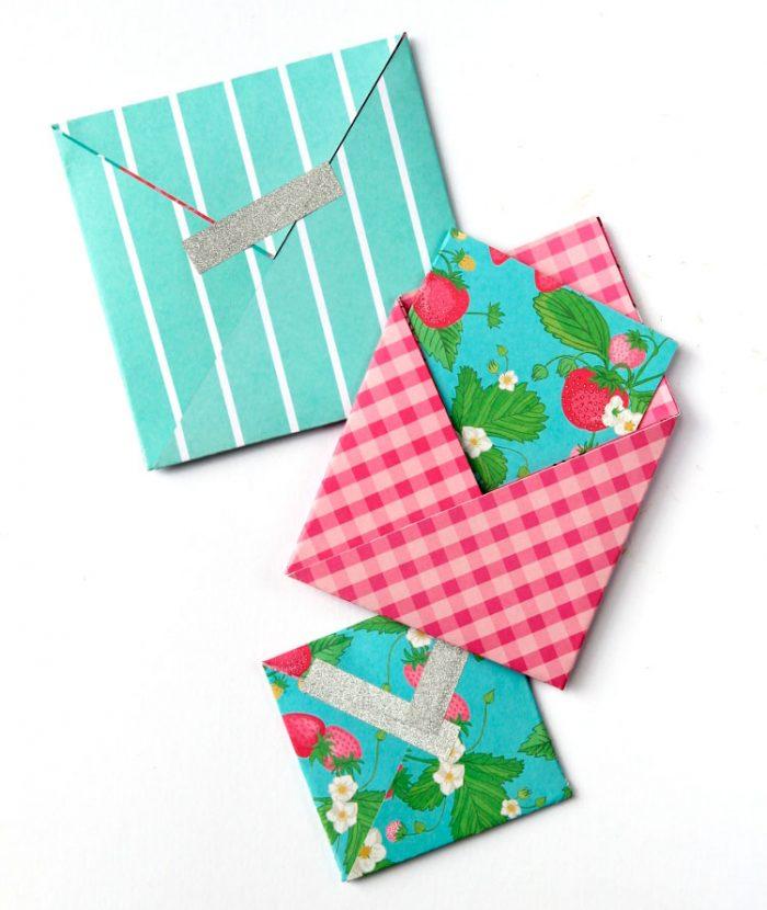Конверт в технике оригами