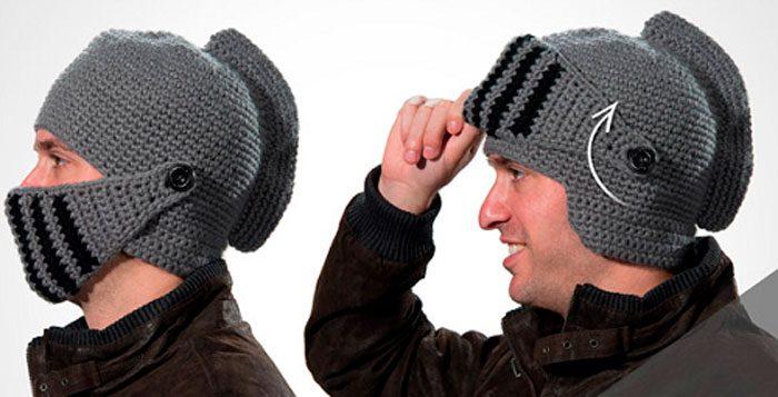 Вязаный шлем