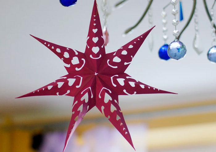 1-14 Как сделать объёмную звезду из бумаги и картона своими руками. Шаблоны и схема для объемной звезды своими руками. Как сделать объемную звезду в технике оригами
