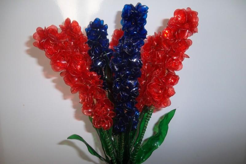 Поделка цветы из пластиковой бутылки фото