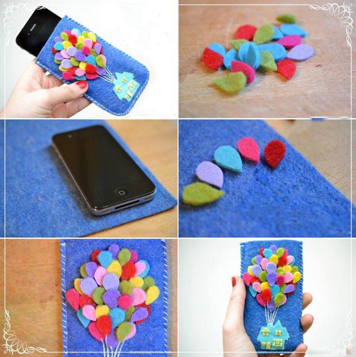 Чехол для мобильного телефона из фетра мастер-класс