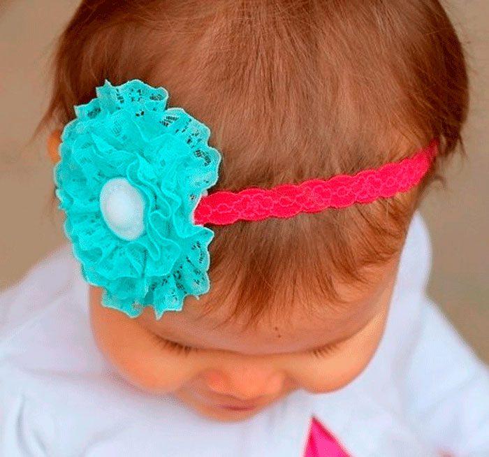 повязка на голову с интересным цветком своими руками