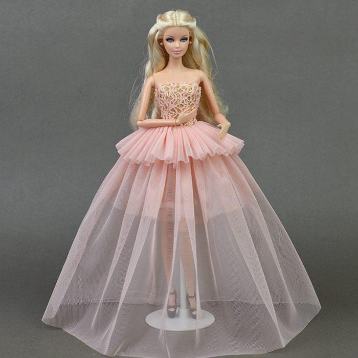 длинная юбка для куклы
