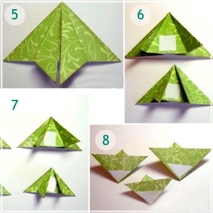 Елка оригами открытка, про