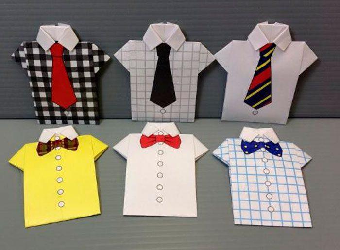 Открытка рубашка галстук своими руками