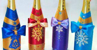 бутылка шампанского на новый год своими руками