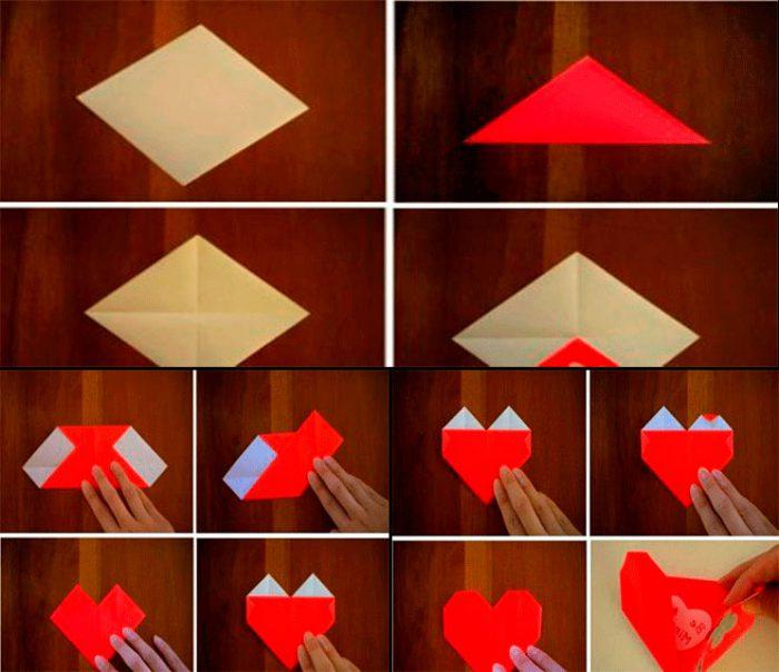 конверт в форме сердца из бумаги мастер-класс
