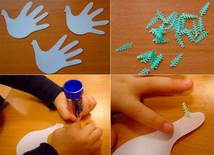 Голуби мира из бумаги на 9 мая мастер-класс своими руками
