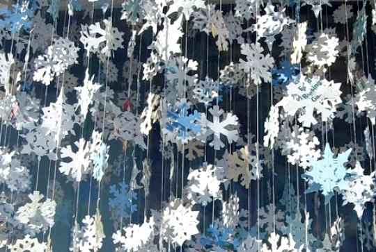 Украшения потолка на новый год фото