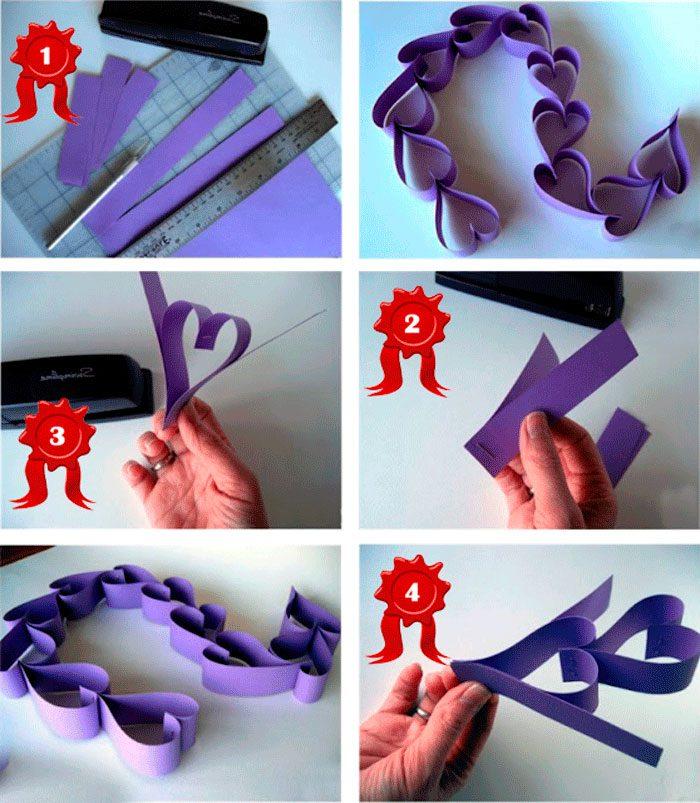 6-10-700x803 Как сделать гирлянду из бумаги своими руками — схемы, шаблоны. Как сделать гирлянду из гофрированной бумаги. Гирлянды на день рождение, свадьбу, новый год в домашних условиях