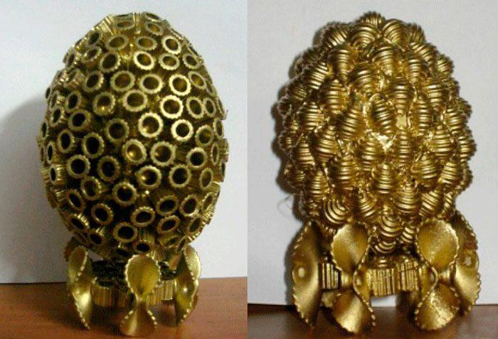 Пасхальное яйцо из макарон