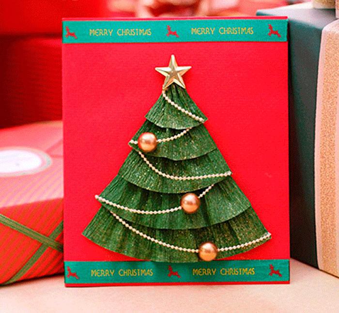 Открытки из картона новогодние
