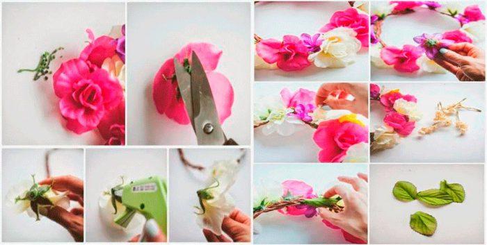 ободки с цветами своими руками