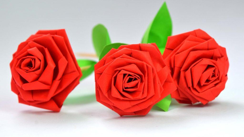 12-5 Цветы из бумаги своими руками - Схемы, шаблоны для вырезания - Пошагово для начинающих