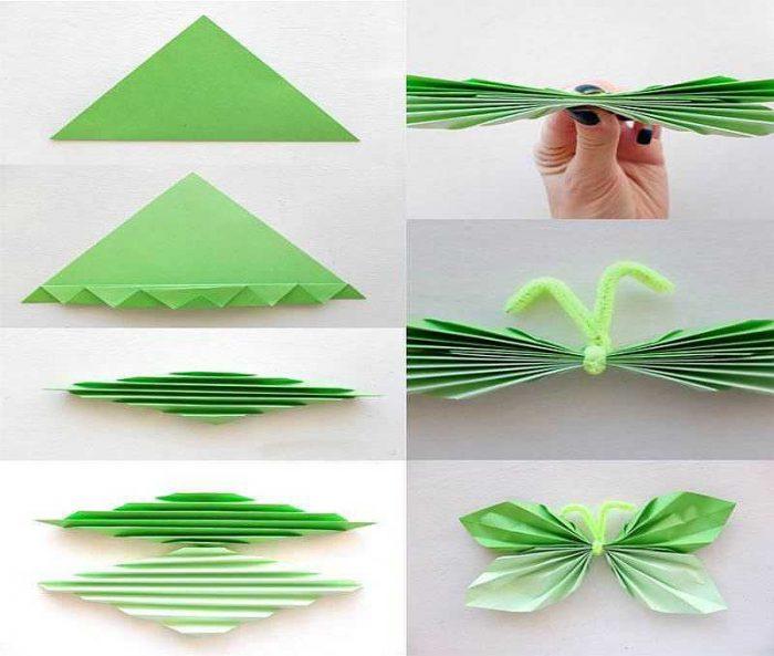 Бабочка из бумаги мастер-класс