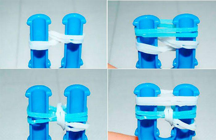 15-700x455 Как сделать браслеты из резинок на рогатке