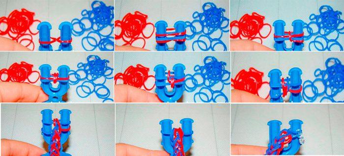 16-700x319 Как сделать браслеты из резинок на рогатке