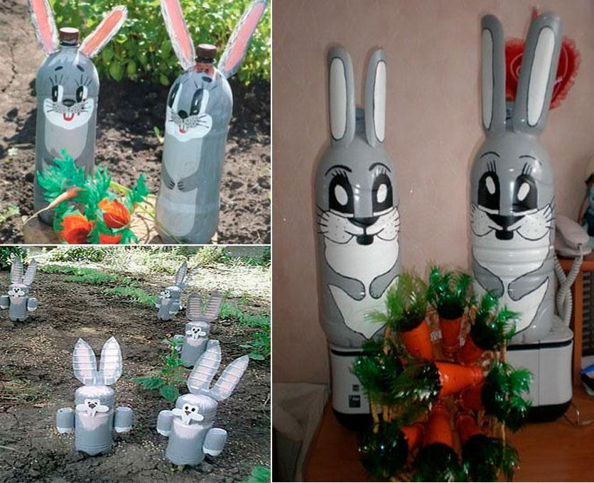поделки в сад из пластиковых бутылок картинки