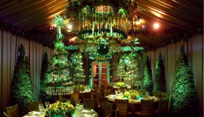 новогодний декор ресторана