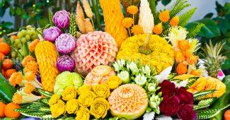 Поделки из овощей и фруктов в технике карвинг своими руками