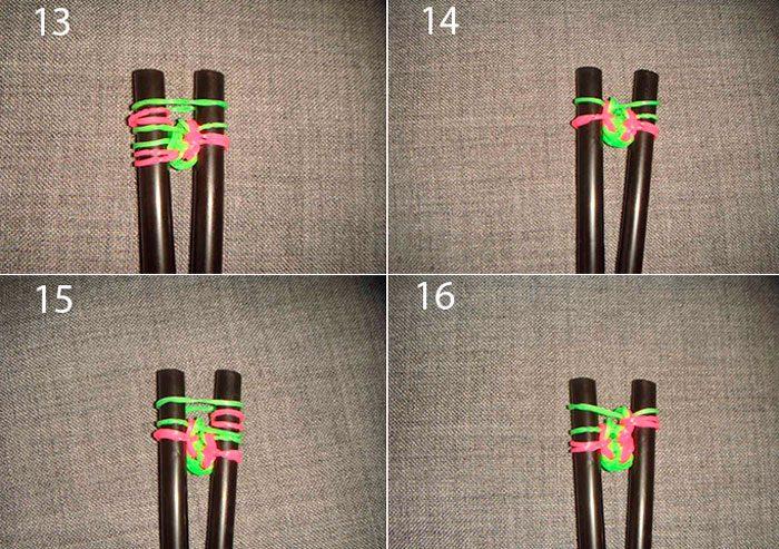 браслет коса русалки из резинок мастер-класс схема плетения