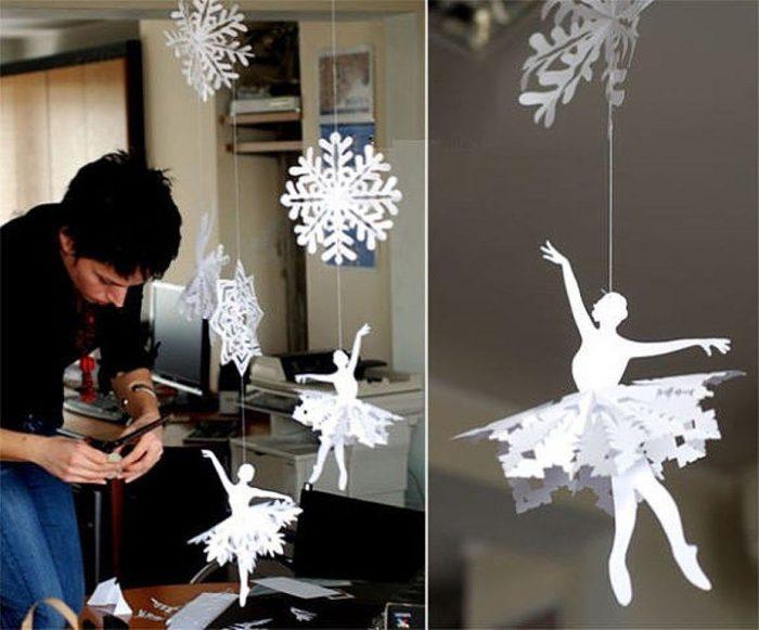 снежинка балеринка мастер класс