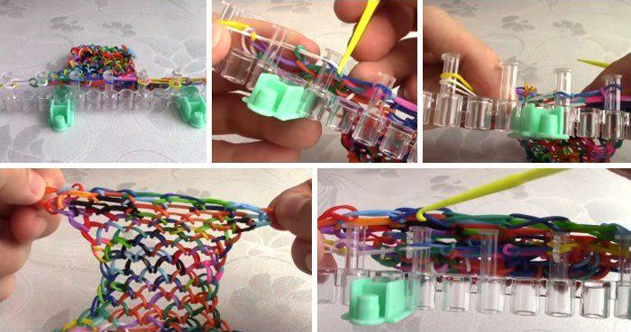 4-700x369 Как сделать браслеты из резинок на рогатке