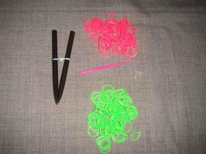 браслет коса русалки из резинок материалы