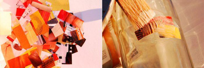 Ваза из бутылки и кусочков журнала мастер-класс