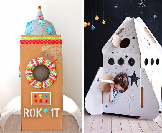 Ракета из картонных коробок