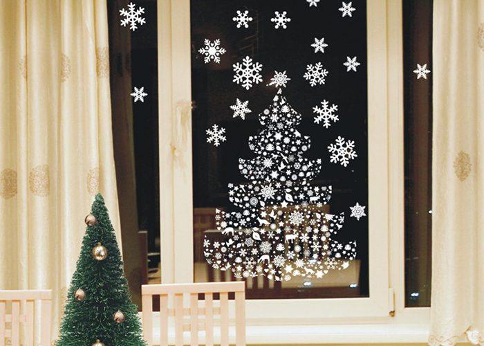 Новогодние украшения на окна своими руками фото 205