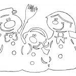 трафареты снеговика