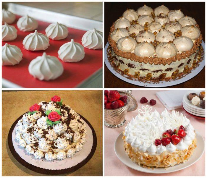 Украшение тортов безе