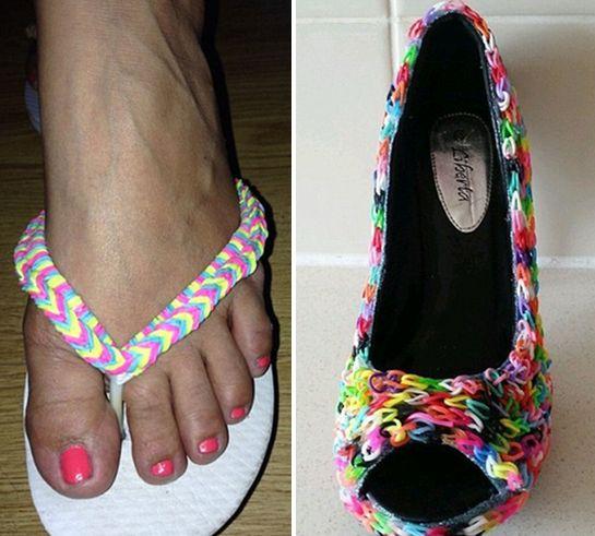 Обувь из резиночек Rainbow Loom
