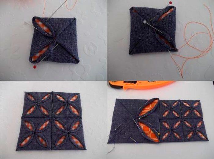 Игольница из лоскутков ткани