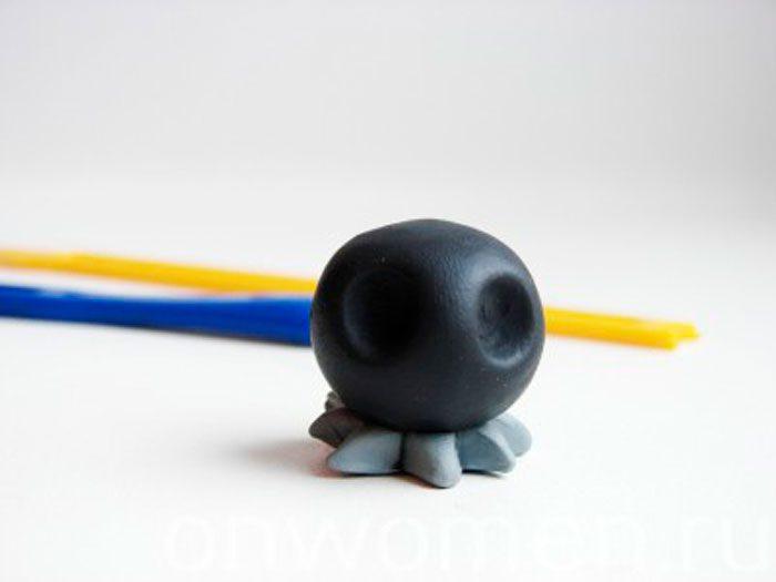 Ворон из пластилина мастер класс