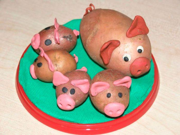 Поросята из картошки