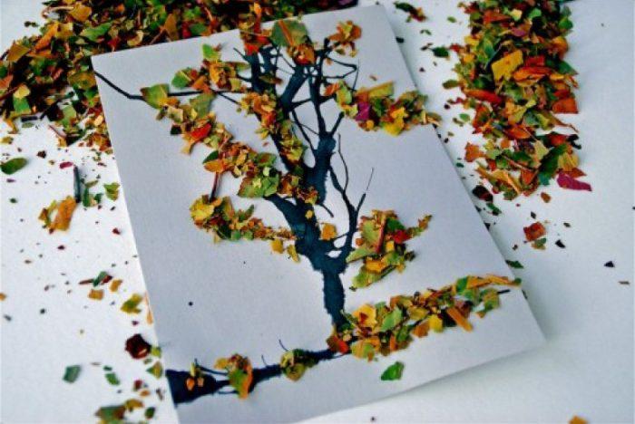 Коллаж из осенних листьев