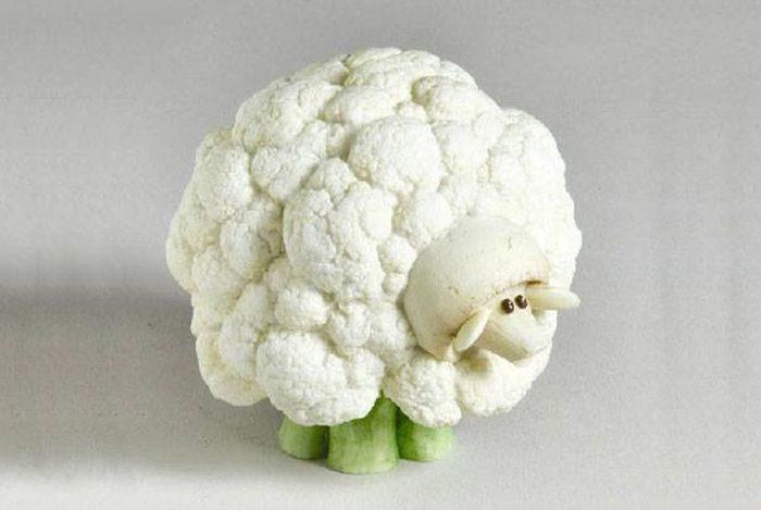 Овечка из цветной капусты