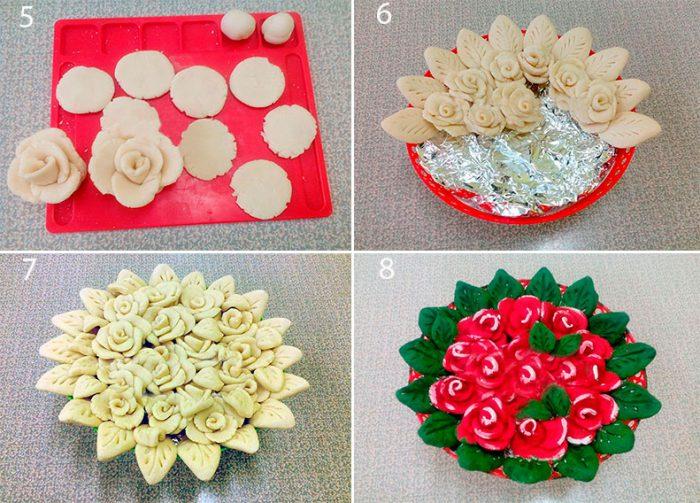 Розы из солёного теста мастер класс
