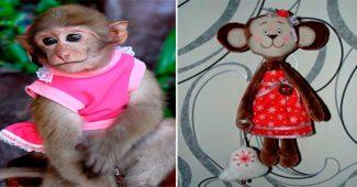 Мягкая игрушка обезьянка с выкройкой своими руками