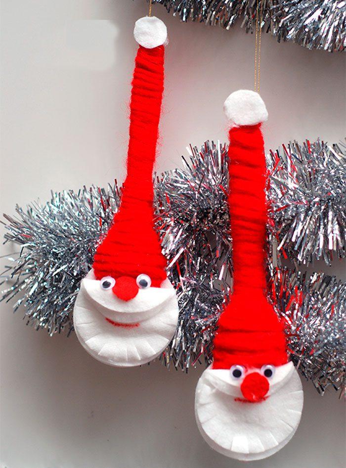 Дед Мороз из ватных дисков мастер класс