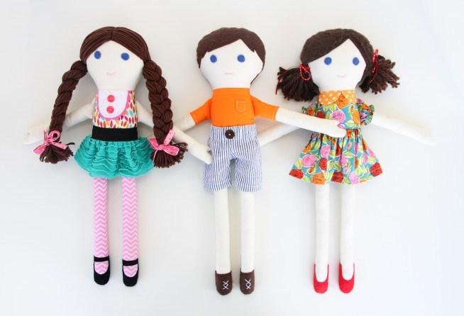 Простая тряпичная кукла
