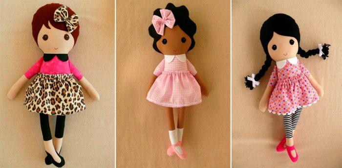 Тряпичная кукла из фетра