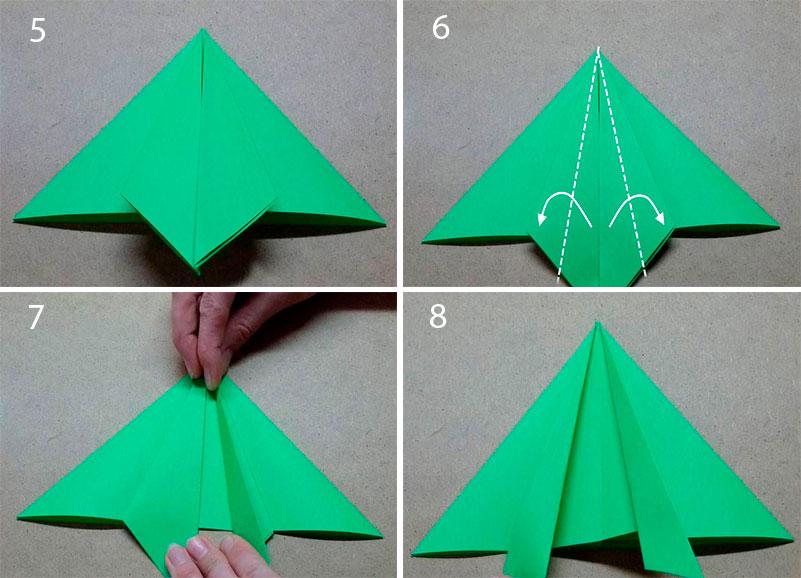 Как сделать прыгающую лягушку из бумаги Листочек