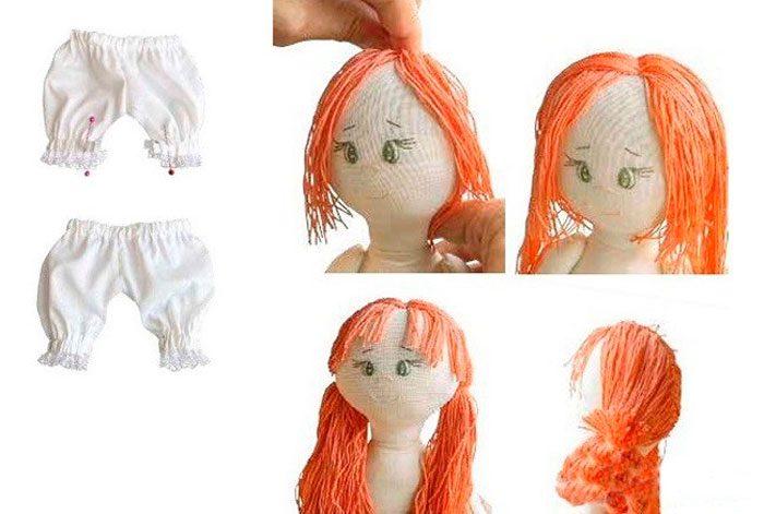 Простая тряпичная кукла мастер класс