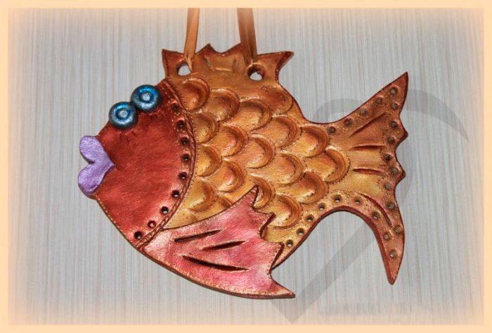 Рыбка из солёного теста