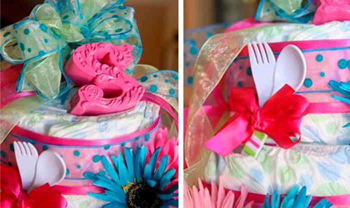 Торт из памперсов для девочек мастер класс