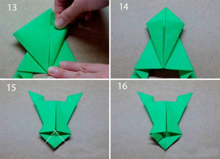 Прыгающая лягушка из бумаги своими руками мастер класс